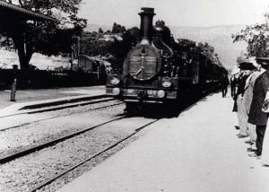 Llegada del tren a la estación de La Ciotat